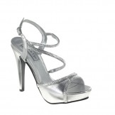Touch Ups ALLIE 423 Silver Bridesmaid or Party Shoes NEW