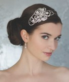 Rainbow Club Forget me not Vintage Style Diamante and Crystal Side Tiara
