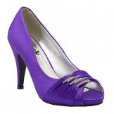 Aubergine Wedding and Evening Shoes Debbie by Paradox London Pink