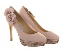 Cupcake Rose Pink Leather Wedding Shoes