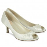 Ivory Satin Wedding Shoes Romantic