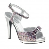 Touch Ups PIPER 450 Multi Glitter and Silver Bridesmaid or Party Shoes