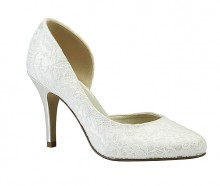 Three quarter cut Lace Bridal shoe,Cathy