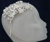 Liza Designs Bridal Tiara FH8017 - Vintage Side Band