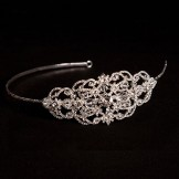 Linzi Jay Bridal Headband with Vintage Style Diamante Side Detail LT505 NEW