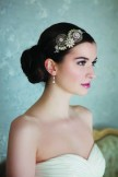 Rainbow Club Anjelica Vintage Style Pearl and Crystal Side Tiara