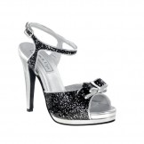 Touch Ups PIPER 449 Black and Silver Bridesmaid or Party Shoes