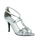 Touch Ups VANESSA 533 Silver Bridesmaid Prom or Party Shoes