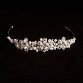 Linzi Jay Diamante and Pearl Bridal Tiara LT507 NEW