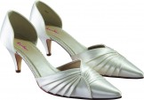 Kiera pleated toe Wedding Shoes