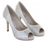 Rainbow Couture Wedding Shoes Orvietto Ivory Satin Sparkle Bridal Shoes
