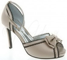 Lexus Linda A006 Taupe Wedding or Occasion Shoes