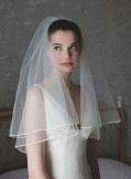 Rainbow Club Tosca II Ivory Bridal Veil 54 inches