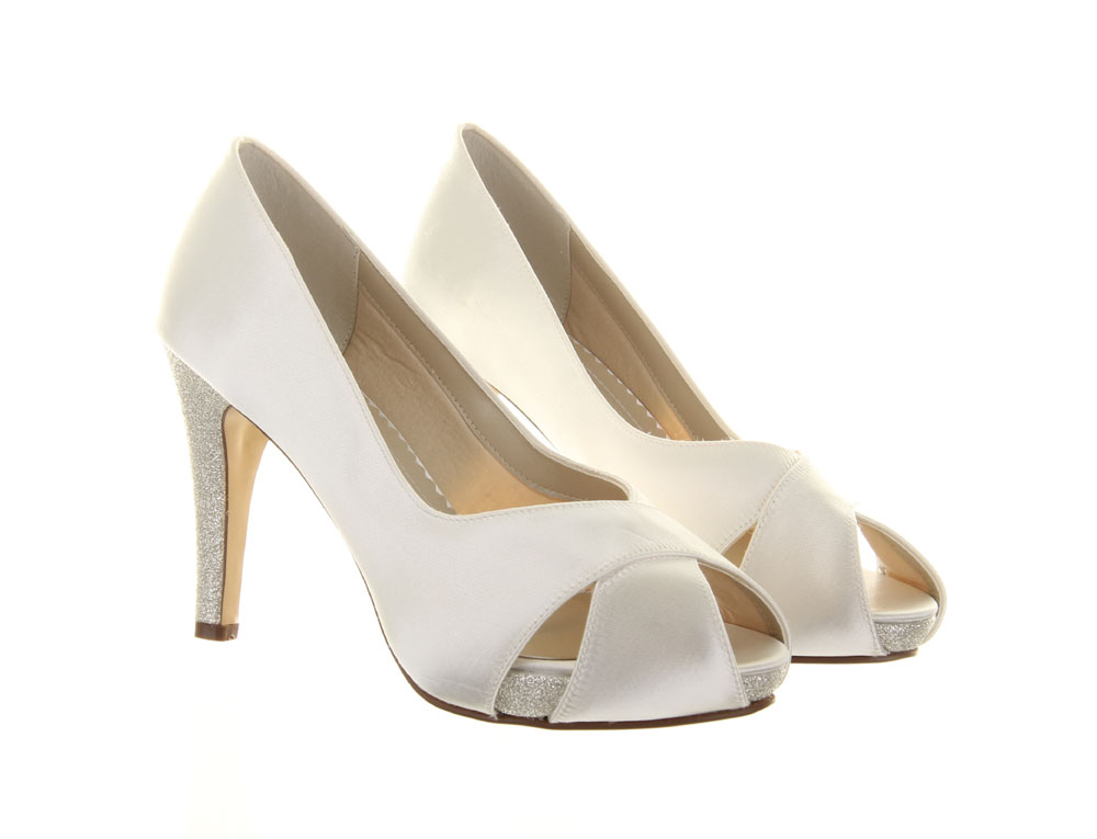 8fba2582125 Wide Fit Wedding Shoes Safia Rainbow Club Dyeable Bridal Shoes