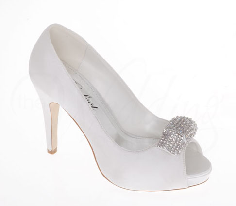 MARQUITA Ivory Bridal Shoes By Perfect Satin Wedding Shoes