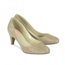 Champagne gold court shoes Affection