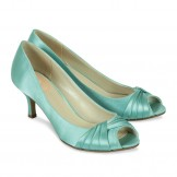 Paradox Pink Romantic Mint Satin Occasion Shoes
