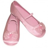 Girls Pink Satin Slippers - Bridesmaid or Party Shoes