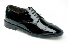 Boys Black Patent Leather Shoes Mark