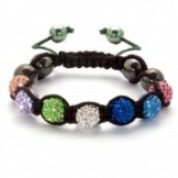 Crystal Shamballa Style Bracelet Multi