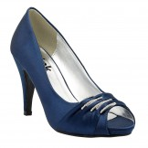 Navy Wedding and Evening Shoes Debbie by Paradox London Pink