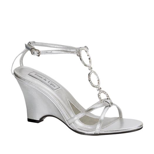 Arlene 197 Silver Occasion Shoe By Touch Ups