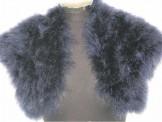 Smooth Real Feather Bolero Navy