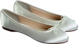 Rainbow Club Louise Dyeable Flat Wedding Shoes NEW