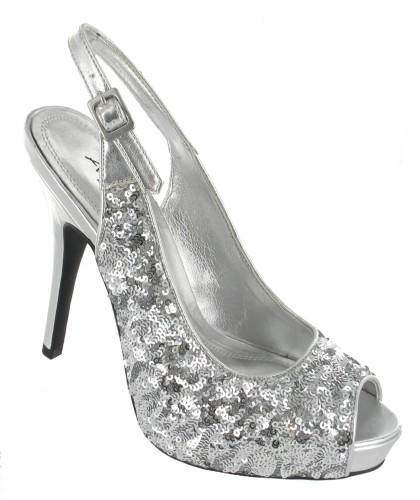632fc1594ef3 Anne Michelle L2221 Silver Prom Bridesmaid Shoes - The Wedding Boutique