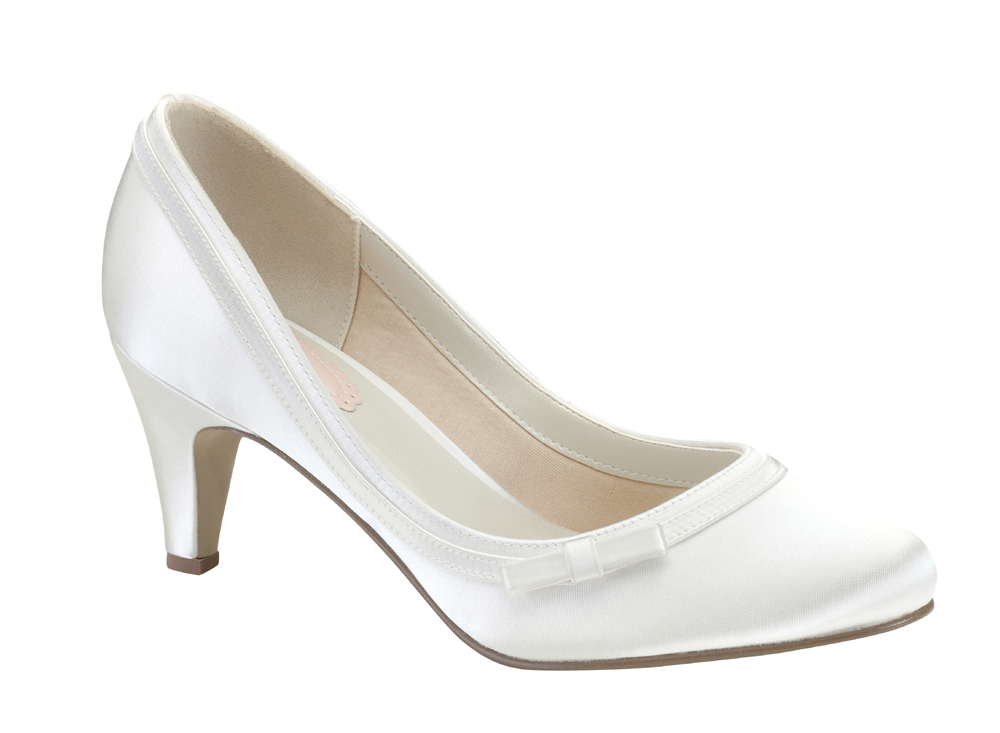 Pink Wedding Shoes Low Heel: Dahlia Bridal Shoes