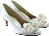 Ruby Round toe Bridal Pump with Bow