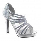 Touch Ups CAREY 461 Silver Glitter Bridesmaid or Party Shoes NEW