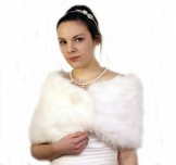 Faux Fur Wrap Ivory BWJ003 NEW