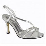 Courtney by Pink Paradox Silver Bridesmaid,  Prom or Evening Shoes