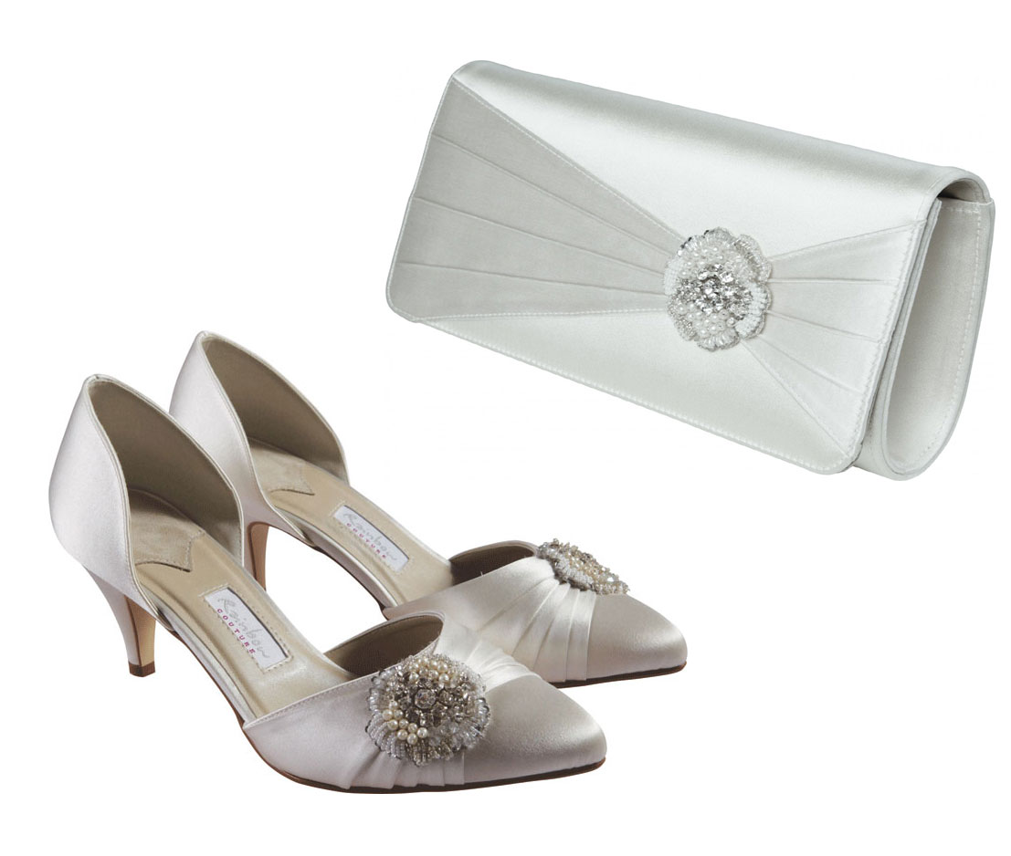 Rainbow Couture Tomea And Pinto Dyeable Wedding Shoes And Bag