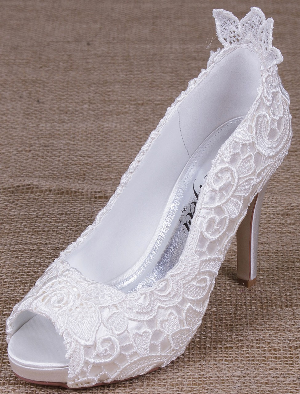Polly Perfect Bridal Shoes Wedding Shoes Ivory Lace