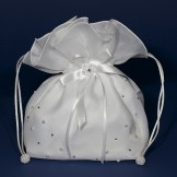 Diamante and Pearl Satin Dolly Bag LD17 (Linzi Jay)