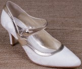 Lindsey May Amelia Ivory Leather and Lace Wedding Shoes
