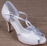 Lindsey May Julieta Ivory Leather Wedding Shoes