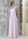 Linzi Jay EC302 Grecian Style Gown Pink