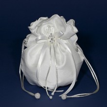 Satin Dolly Bag LD30 White or Ivory