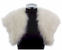 Smooth Feather Ivory Bridal Bolero