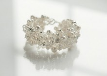 Beautiful Pearl and Crystal Bridal Bracelet