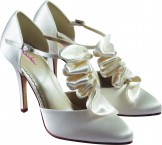 TOPAZ by Rainbow Club Ivory Satin Bridal Shoes Wedding Shoes