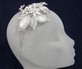 Liza Designs Bridal Tiara FH8002 - Vintage Side Band