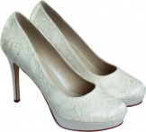 Rainbow Club Ella Dyeable Lace Wedding Shoes NEW