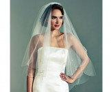 Joyce Jackson Ivory Tulle Drop Crystal Wedding Veil Ruthin