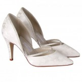 Rainbow Couture Luisa Ivory Floral Satin Wedding Shoes