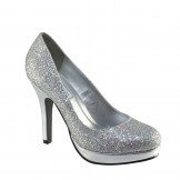 CANDICE 396 by Touch Ups Silver Bridesmaid or Party Shoes NEW