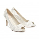 Ivory Lace Wedding Shoes Paradox Pink Cosmos